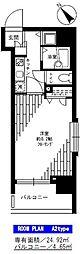 フェニックス横須賀中央[704号室]の間取り