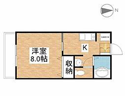 ウイング富田[1階]の間取り