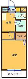 福岡県福岡市中央区唐人町2丁目の賃貸マンションの間取り