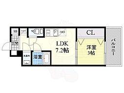Orientem 2階1LDKの間取り