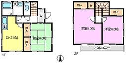 [一戸建] 千葉県松戸市殿平賀 の賃貸【/】の間取り