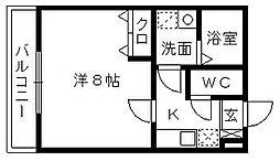 クレフラスト浜松駅南[103号室]の間取り