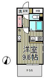 グランアパートメント[1階]の間取り