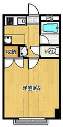 東千葉ハイリビング六番館[407号室]の間取り