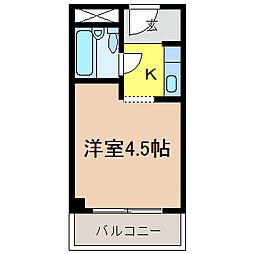 千代田シングルコート[106号室]の間取り