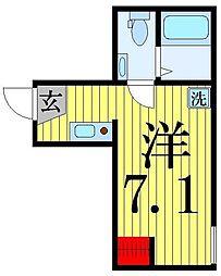 東京都葛飾区堀切5の賃貸アパートの間取り