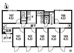 大泉学園II[103号室]の間取り