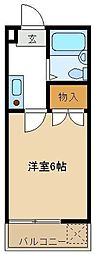 コーポサンライズ 203[2階]の間取り