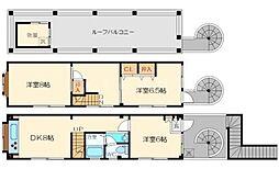 大桐4丁目増田貸家[3階]の間取り