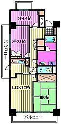 川口本町パーク・ホームズ[1201号室]の間取り