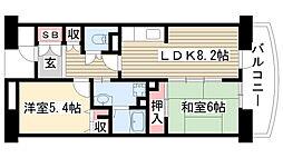 アーバンラフレ小幡 4号棟[107号室]の間取り