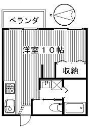 ユーカリコーポA[2階]の間取り