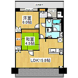 ユニハイム駒川中野アクロス[5階]の間取り