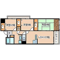 兵庫県神戸市長田区上池田3丁目の賃貸マンションの間取り