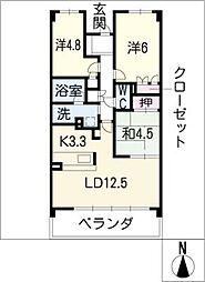 パークホームズ覚王山SOUTH[3階]の間取り