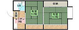大阪府堺市堺区緑ヶ丘中町3丁の賃貸マンションの間取り