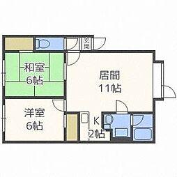 サンシャイン32[2階]の間取り