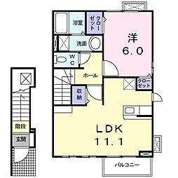 カ−サK.F.[2階]の間取り