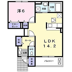 Casa Vento II[102号室]の間取り