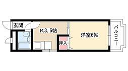 第2富士ハイツ[305号室]の間取り