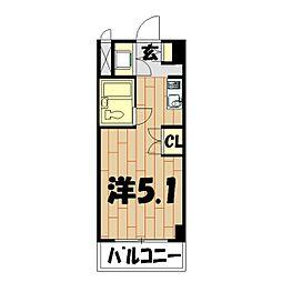 プロシード鶴ヶ峰[206号室]の間取り