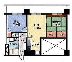 エンドレス519[14階]の間取り