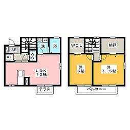 [テラスハウス] 愛知県海部郡大治町大字鎌須賀字川畔 の賃貸【/】の間取り