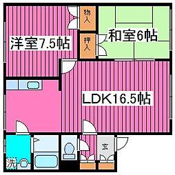 北海道札幌市北区百合が原3丁目の賃貸アパートの間取り