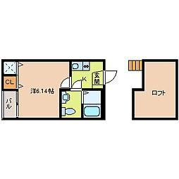 ウッドビレッジ2[2階]の間取り