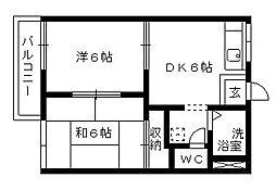 エスポワール葵C[2階]の間取り