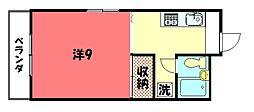 白水荘[301号室]の間取り