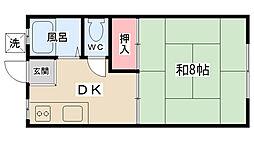 ハウス大津 B棟[B-6号室]の間取り