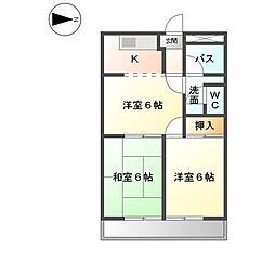 サンテラスNAWA[1階]の間取り