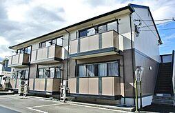 山梨県中央市下三條の賃貸アパートの外観