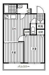 プチフルール[2階]の間取り
