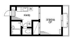 フォレストハイム[1階]の間取り