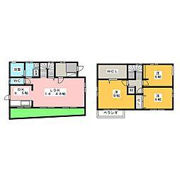 [一戸建] 愛知県名古屋市昭和区伊勝町1丁目 の賃貸【/】の間取り