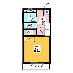 ポルトハイツ[3階]の間取り