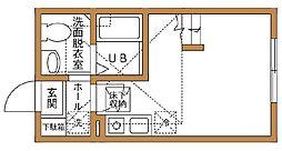 ハーミットクラブハウス京急弘明寺[203号室]の間取り