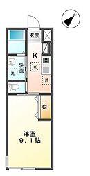 袖ケ浦市代宿97番5他新築アパート[106号室]の間取り