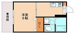 レイクタウン井尻B[1階]の間取り