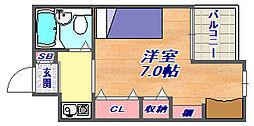 ラ・フェ・ブランシュ岡本[305号室]の間取り