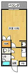 カスティール・イン・宇都宮[706(C)号室]の間取り