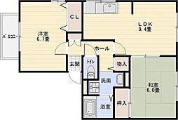 エトワールコート A棟[1階]の間取り