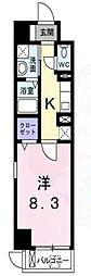 阪急今津線 門戸厄神駅 徒歩9分の賃貸マンション 1階1Kの間取り
