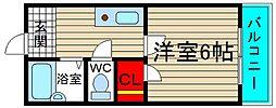 大阪府大阪市西区九条1の賃貸マンションの間取り