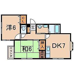 0461グランデール[201号室]の間取り