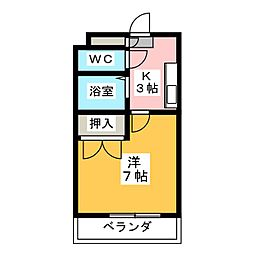 エクセス京命[5階]の間取り