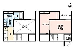 REFINED TASTE 三吉[2階]の間取り