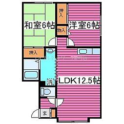 北海道札幌市東区伏古十二条4丁目の賃貸アパートの間取り